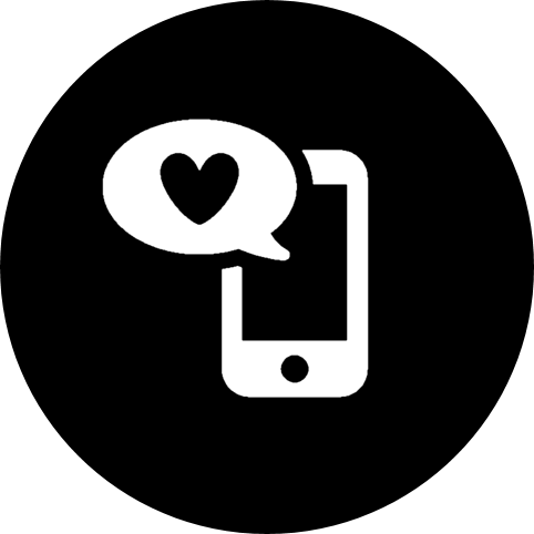 calling, love, mobile, mobile phone, phone, screen, social, texting, valentine's day icon