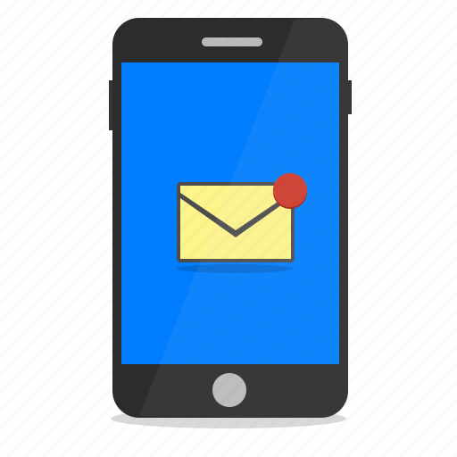email, message, mobile, notification, phone icon