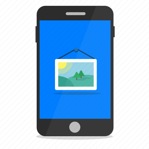 gallery, image, mobile, phone, picture icon