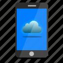 cloud, mobile, phone, storage icon