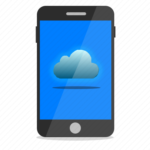 cloud, mobile, phone, storage icon