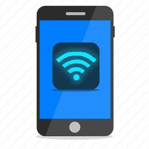 connection, mobile, phone, wifi, wireless icon