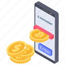 digital payment, e-payment, ecommerce, online finance, online payment icon