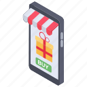 ecommerce, mcommerce, mobile shopping, online buying, online sale, online shopping icon