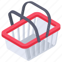 bucket, shopping basket, shopping bucket, shopping cradle, shopping hamper icon