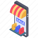 ecommerce, mobile market, online marketplace, online shop, online store icon