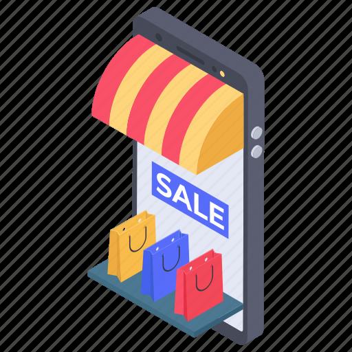 ecommerce, mobile market, online marketplace, online shop, online store icon
