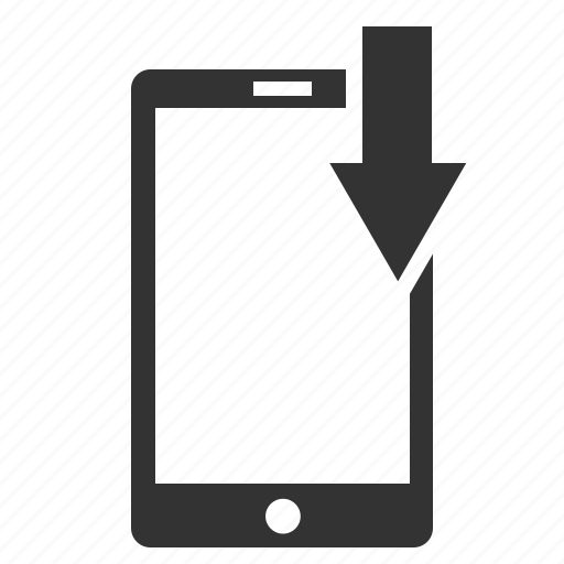 arrow, call, device, download, downloads, internet, mobile, phone, save, share, sharing, telephone icon
