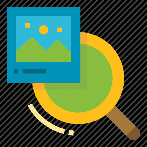 file, image, photo, picture, search icon