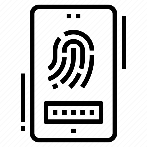 biometric, fingerprint, mobile, password, scanning icon