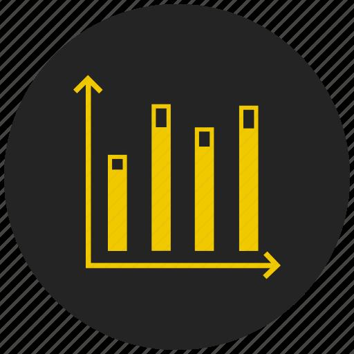 analysis, bar chart, bar graph, dashboard, report, statistics, trend icon