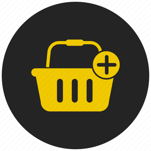 add product, checkout, groceries, purchase, retail, shopping basket, shopping cart icon