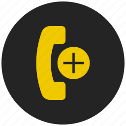 add call, add conference call, add contact, communication, create contact, new phone icon