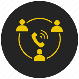 business call, communication, conference call, discussion, group chat, meeting, teamwork icon