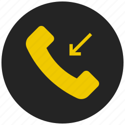 call, incoming call, missed call, received call, receiver, ringing icon
