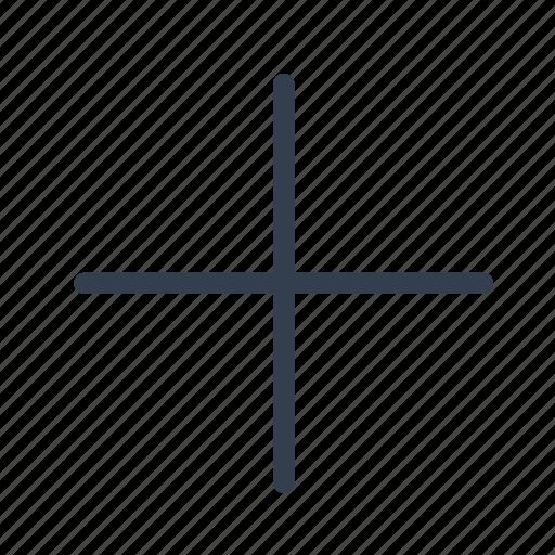 add, line, plus icon