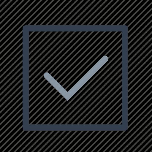 accept, check, done, square icon