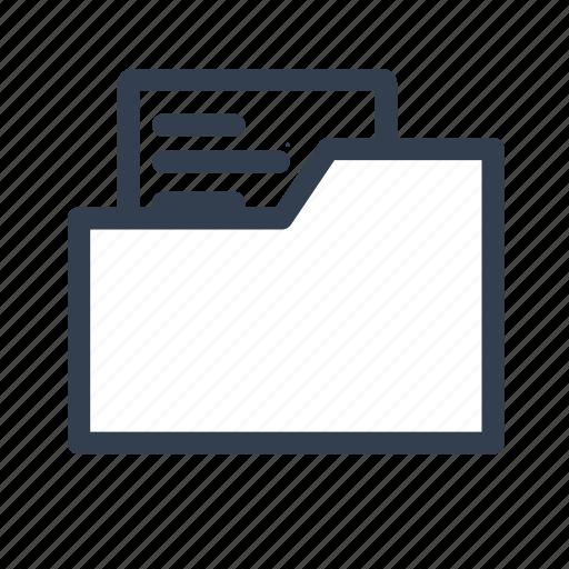 catalog, document, file, folder, full, note icon