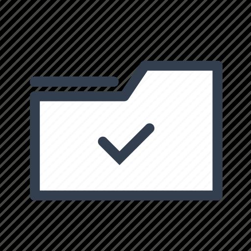 check, document, folder, save icon