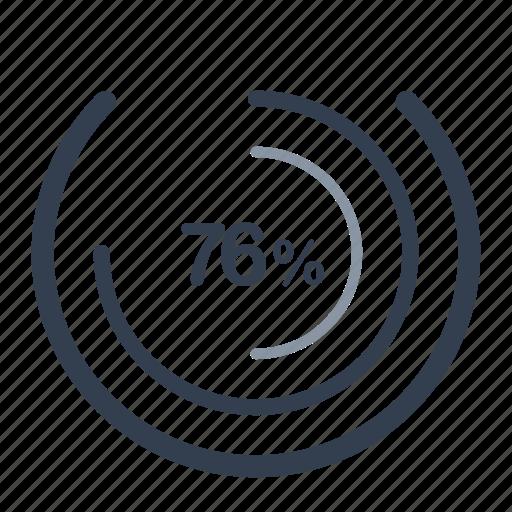 concentric, loader, percent icon