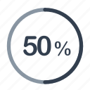 concentric, loader, percent icon