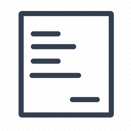 contact, document, note, sheet, stroke, write icon
