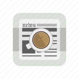 educational, morning tea, news, newspaper, paper icon