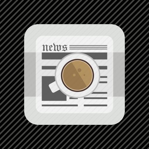 educational, morning tea, news, newspaper, paper icon