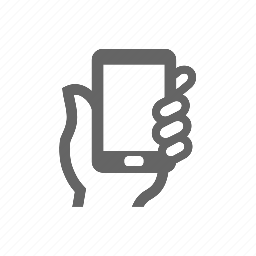 Mobile, phone, smart phone, pad, hand icon - Download on Iconfinder