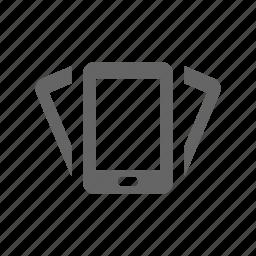 pad, phone, shake, smart phone, vibrate icon