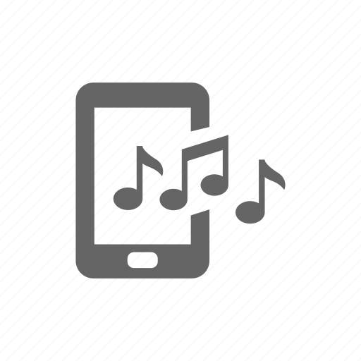 media, melody, music, note, pad, phone, play, smart phone icon