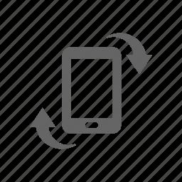arrow, change direction, orientation, pad, phone, rotate, smart phone icon