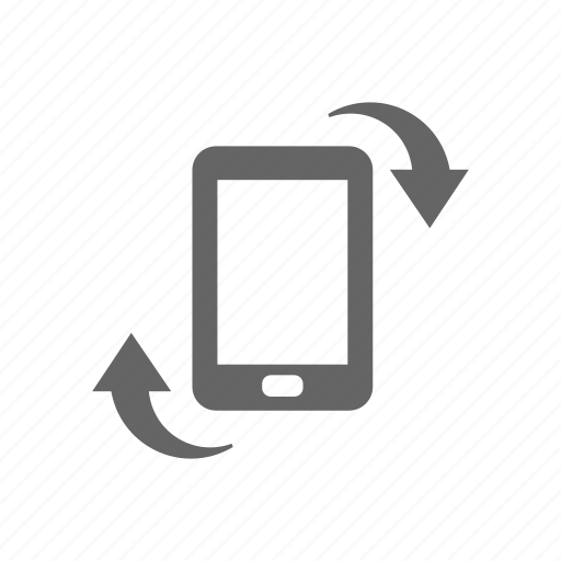 arrow, change direction, orientation, pad, phone, rotate, smart phone icon