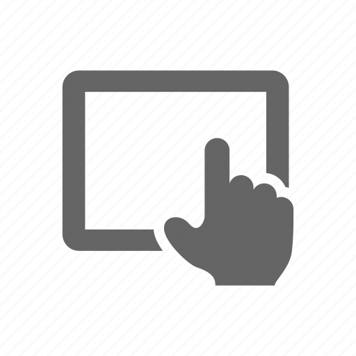 hand, pad, tablet, touch icon