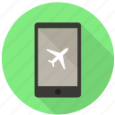booking, flight, mobile, online check in, plain, rewards, tickets icon