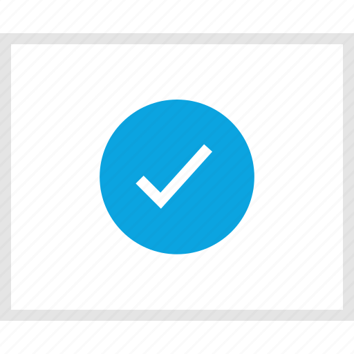 approved, mockup, ok, website, wireframe icon