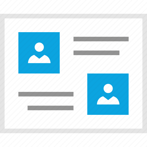 chatting, friends, mockup, online, talk, website, wireframe icon