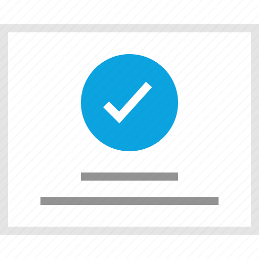 check, mark, mockup, ok, website, wireframe icon