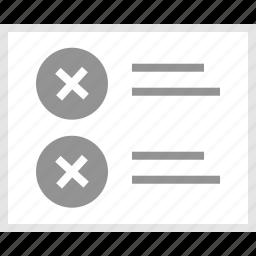 double, error, mockup, website, wireframe, x icon