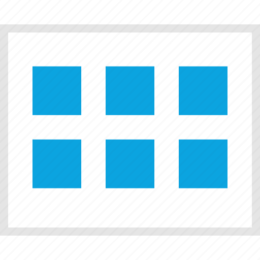 gallery, grid, mockup, view, website, wireframe icon