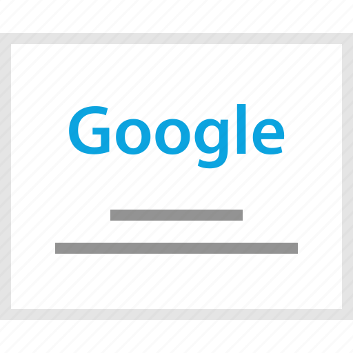 google, homepage, mockup, search, website, wireframe icon