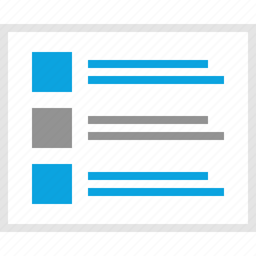 data, lines, mockup, posts, website, wireframe icon