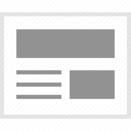 article, home, mockup, news, website, wireframe icon