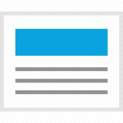 article, mockup, news, post, website, wireframe icon