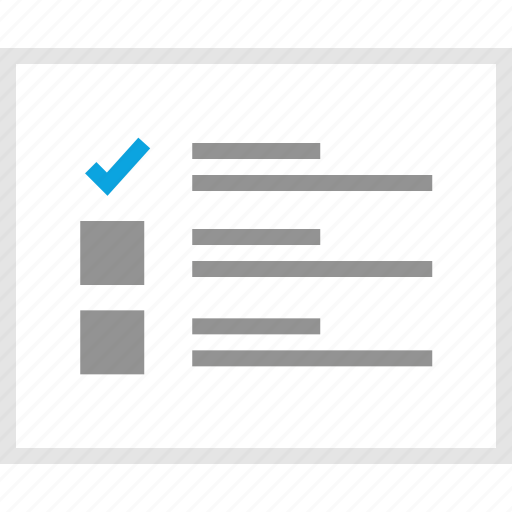 check, mark, mockup, one, website, wireframe icon