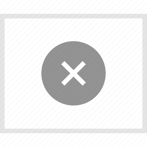 delete, error, mockup, website, wireframe, x icon