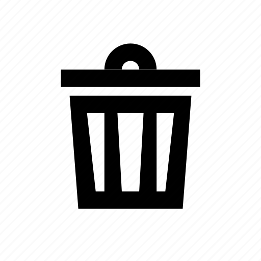 archive, bin, delete, garbage, recycle, remove, trash, trashbin icon