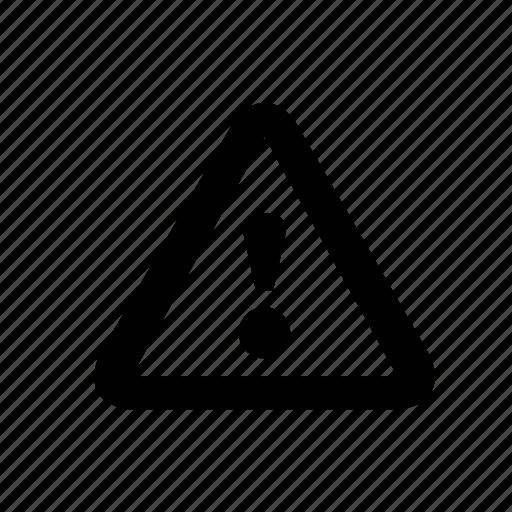 alert, attention, caution, error, notification, problem, warning icon
