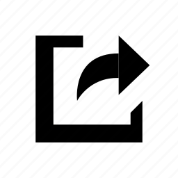 forward, share, social icon