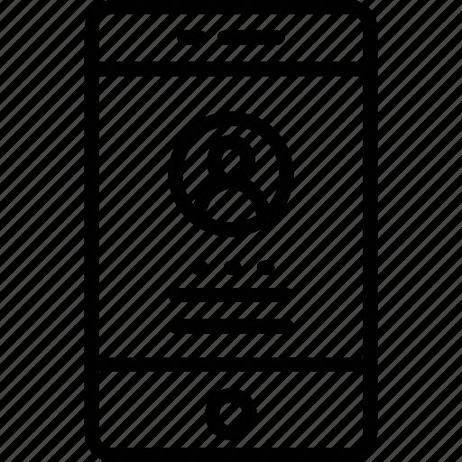 live call, mobile, mobile account, mobile login icon